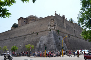 The Vatican is a Castle with walls everywhere