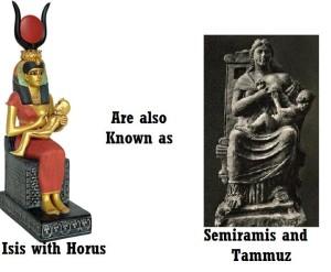 Isis Semiramis comparison